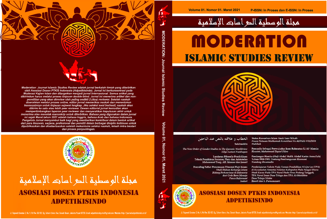 View Vol. 1 No. 1 (2021): Journal Moderation